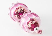Pink Dahlia Lampwork Beads alternative view 1