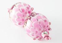 Pink Dahlia Lampwork Beads alternative view 2