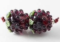 Blackberry Lampwork Beads