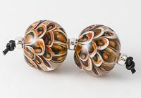 Earthy Dahlia Lampwork Beads