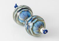 Blue Dahlia Lampwork Beads alternative view 1