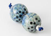 Blue Dahlia Lampwork Beads alternative view 2