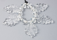 Clear Lampwork Leaf Bead Set