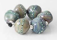 Pastel Lampwork Nugget Beads