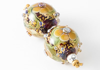 Glittery Lampwork Flower Beads alternative view 1