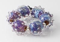 Sparkly Lampwork Bumpy Beads