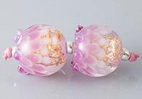 Sparkly Dahlia Lampwork Beads