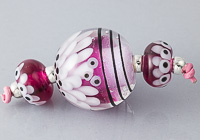 Large Dahlia Lampwork Bead Set