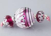 Large Dahlia Lampwork Bead Set