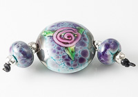 Rose Lampwork Bead Set