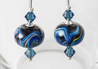 Galaxy Lampwork Earrings