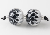 Black Dahlia Lampwork Beads