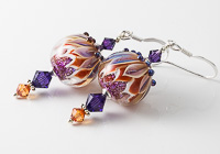 Dichroic Dahlia Lampwork Earrings alternative view 1