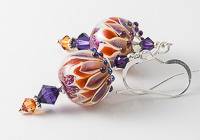 Dichroic Dahlia Lampwork Earrings
