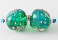 Seafoam Lampwork Beads