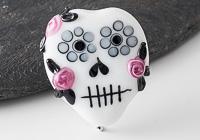 Lampwork Skull Bead