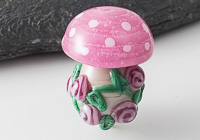 Toadstool Lampwork Bead alternative view 1