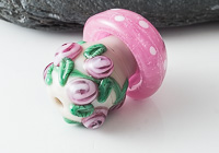 Toadstool Lampwork Bead alternative view 2