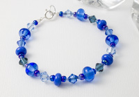 """Sea"" Lampwork Bracelet"