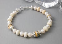 Ivory Lampwork Bracelet