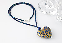 Silvered Heart Lampwork Necklace alternative view 1