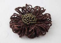Brown Flower Brooch