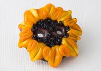 Sunflower Lampwork Button