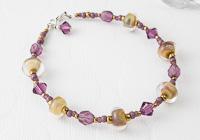 """Golden"" Lampwork Bracelet"