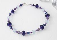 Purple Lampwork Braclet