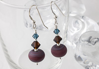Brown Stone Tumbled Earrings