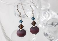 Brown Stone Tumbled Earrings