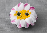 Daisy Lampwork Button