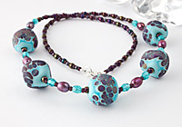 """Lampwork Necklace """"Lily"""""""
