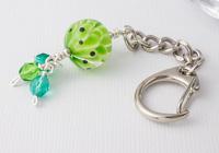 Green Dahlia Handbag Charm