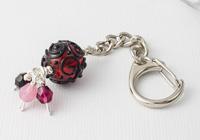 Pink Scrollwork Handbag Charm
