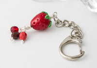 Strawberry Handbag Charm