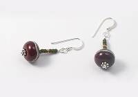 """Amara"" Lampwork Earrings alternative view 2"