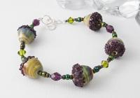 Acorn Lampwork Bracelet