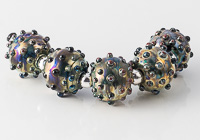 Metallic Bumpy Lampwork Beads