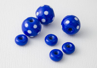Blue Spotty Lampwork Bead Set