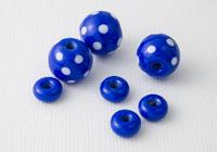 Blue Spotty Lampwork Bead Set