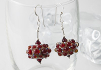 Red Dotty Lampwork Earrings