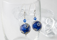 Stone Tumbled Lampwork Earrings