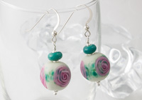 Rose Lampwork Earrings