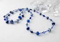 Blue Lampwork Necklace alternative view 1