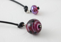 Fuchsia Lampwork Bookmark