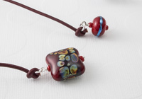 Red Pillow Lampwork Bookmark