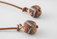 """Mud Pie"" Lampwork Bookmark"