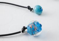 Blue Lampwork Bookmark