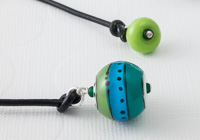 Turquoise Rainbow Lampwork Bookmark